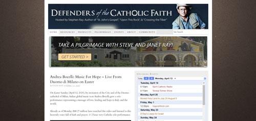 Defenders of the Catholic Faith.