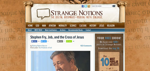 Stephen Fry, Job, and the Cross of Jesus.