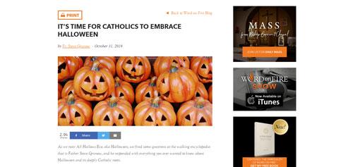 Blog on Halloween.